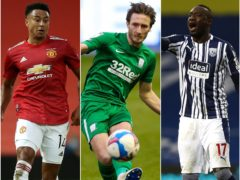 Jesse Lingard, Ben Davies and Mbaye Diagne, l-r, will give FPL managers something to think about (Martin Rickett/Barrington Coombs/Jason Cairnduff/PA)