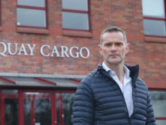 Gary Stewart of Quay Cargo services in Belfast who believes that time and money are being wasted chasing unnecessary paperwork for businesses exporting from Northern Ireland to the EU. Picture date: Saturday February 27, 2021. PA Photo. See PA story POLITICS Brexit Export . Photo credit should read: Niall Carson/PA Wire
