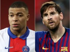 Kylian Mbappe has a better scoring record for his age than rival Lionel Messi (Martin Ricketts/PA/Nick Potts/PA)