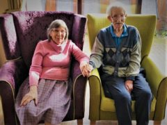 Ivor and Pansy Warren, who have been married for 65 years (Wellbeing Care/PA)