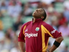 West Indies captain Kieron Pollard knocked six sixes in an over to guide his side to a comprehensive four-wicket win against Sri Lanka in the opener of their three-match T20 series (Tim Hales/PA)