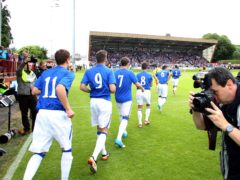 Rangers played their first match following their financial collapse against Brechin in June 2012 (Lynne Cameron/PA)