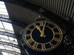 The clock at York Station (Lynne Cameron/PA)