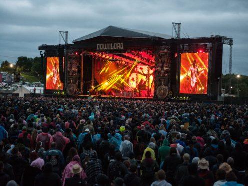 Kiss at Download Festival in 2015 (Katja Ogrin/PA)