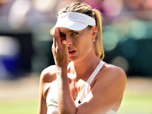 Maria Sharapova was banned from tennis for 15 months after a positive drugs test in 2016 (Dominic Lipinski/PA)