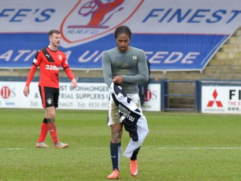 Harry Panayiotou got the only goal at Meadow Lane (Jane Barlow/PA)