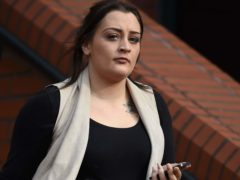 Emma-Jayne Magson outside Leicester Crown Court, at her first trial in 2016 (Joe Giddens/PA)