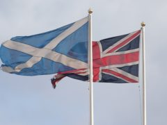 Support for independence and the union was split 50/50, the poll found (Yui Mok/PA)