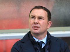 Derek Adams felt his side deserved at least a point (Nigel French/PA)