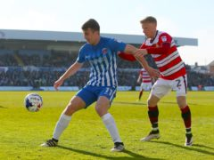 Rhys Oates (left) netted Hartlepool's second equaliser (Richard Sellers/PA)