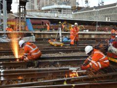 Extensive rail engineering work is planned over Easter weekend (Network Rail/PA)