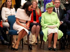 The Duchess of Sussex accompanies the Queen on a visit to the Storyhouse in Chester (Phil Noble/PA)