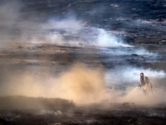 The Saddleworth Moor wildfire of 2018 (Danny Lawson/PA)