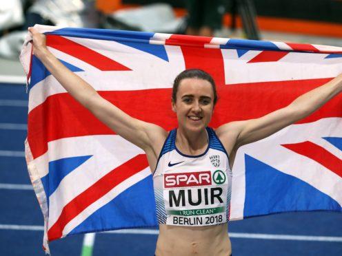 Laura Muir won double gold at the 2017 European Indoor Championships (Martin Rickett/PA)