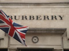 Burberry said sales in the three months to March 27 are expected to jump 28%-32% compared with a year earlier (PA)