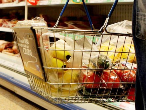 Inflation is based on a basket of goods and services that shoppers might need (Julien Behal/PA)