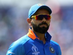 Virat Kohli is set to drop back down to number three in the ODI series against England (Nigel French/PA)