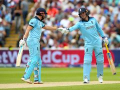 England's Jonny Bairstow, left, and Jason Roy shake hands (Nigel French/PA)