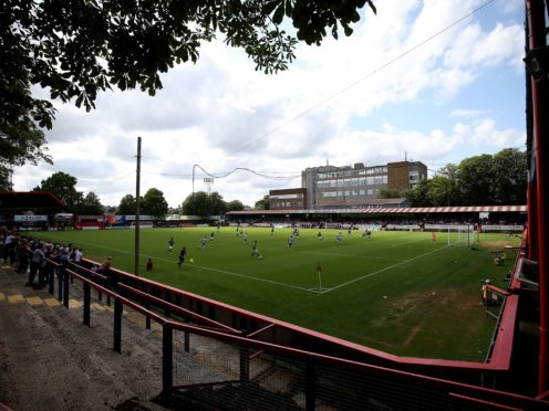 Aldershot hosted Boreham Wood (Steven Paston/PA)
