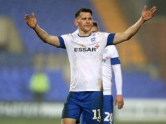 Former Tranmere striker Connor Jennings, now at Stockport, has been diagnosed with cancer (Ricard Sellers/PA)