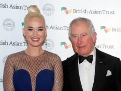 The Prince of Wales with Katy Perry (Kirsty Wigglesworth/PA)