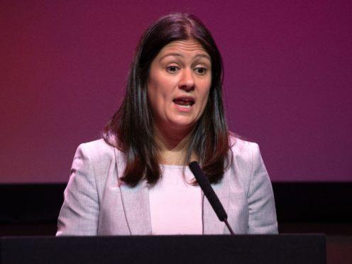 Shadow foreign secretary Lisa Nandy gave a keynote address to the Chatham House international affairs think tank (Jane Barlow/PA)