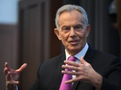 Former prime minister Tony Blair during a speech to mark the 120th anniversary of the founding of the Labour party, in the Great Hall at King's College, London.