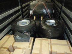Tyres which were found stuffed with cocaine (National Crime Agency/PA)