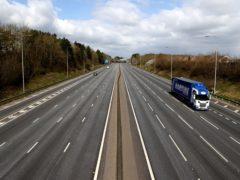 Motorways were often deserted during the first lockdown (Tim Goode/PA)