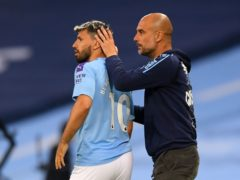"""Manchester City boss Pep Guardiola insists Sergio Aguero is """"irreplaceable"""" (Laurence Griffiths/NMC Pool/PA)"""