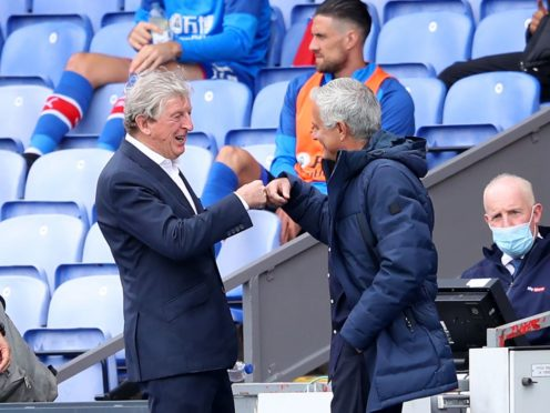 The last two meetings between Roy Hodgson and Jose Mourinho have ended in 1-1 draws (Warren Little/PA)