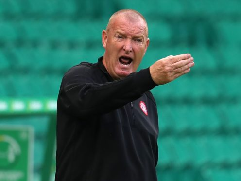 Hamilton manager Brian Rice is still angry about the decision to send off Jamie Hamilton at Hibs (Andrew Milligan/PA)