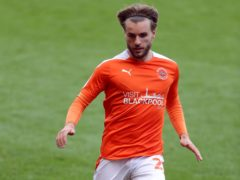 Luke Garbutt equalised for Blackpool (Richard Sellers/PA)