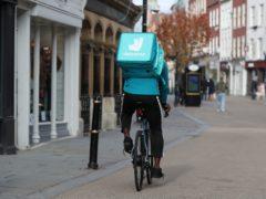 A Deliveroo rider (David Davies/PA)