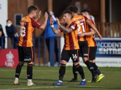 Billy Clarke, centre, has missed Bradford's last three matches (Tess Derry/PA)
