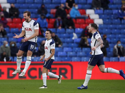 Tottenham and Palace drew 1-1 in December's reverse fixture (Andrew Couldridge/PA)