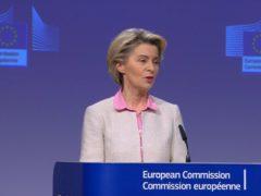Ursula von der Leyen said AstraZeneca had 'underproduced and underdelivered' to the EU (PA)