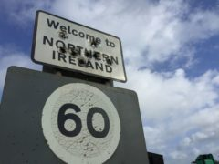 A welcome to Northern Ireland sign on the border with the Republic (David Young/PA)