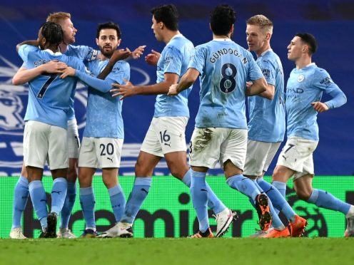 Manchester City are hoping to extend their winning run with victory over derby rivals Manchester United (Shaun Botterill/PA)