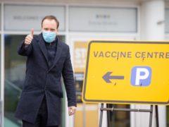 Health Secretary Matt Hancock hailed the vaccines milestone (Dominic Lipinski/PA)