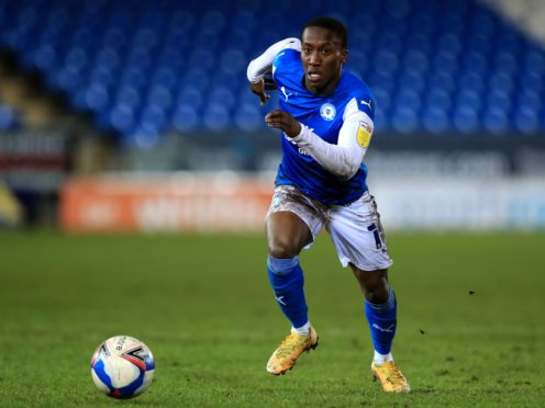 Siriki Dembele has been struggling with a back injury for Peterborough (Mike Egerton/PA)