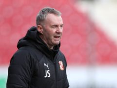 John Sheridan will need to make changes in defence against Oxford (Bradley Collyer/PA)