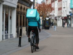 Transactions on Deliveroo grew by 121% in January and February (David Davies/PA)