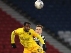 Livingston's Efe Ambrose (left) should be fit to face Rangers (Jane Barlow/PA)