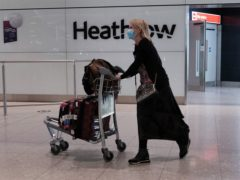 Leisure travel is currently banned for people living in the UK (Yui Mok/PA)