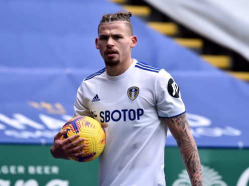 Kalvin Phillips interrupted Raphinha's media duties (Rui Vieira/PA)