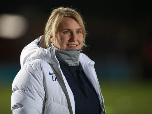 Emma Hayes believes Chelsea are being put under pressure to succeed in the Women's Champions League this year (Adam Davy/PA)