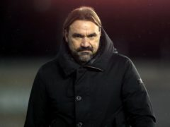 Norwich manager Daniel Farke is remaining grounded despite 10-point cushion at the top (Adam Davy/PA)