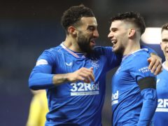 Connor Goldson, left, will captain Rangers (Jeff Holmes/PA)