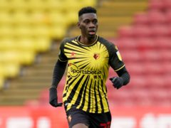 Ismaila Sarr, pictured, is a doubt for Watford (Tess Derry/PA)